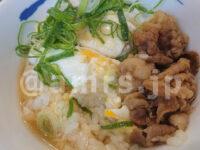 ふあとろ玉子のあんかけ朝ごはんライスミニ(選べる小鉢:ミニ牛皿)、豚汁@松屋 牛ふあとろ玉子のあんかけ