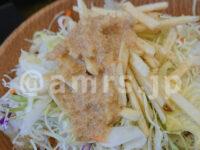 マイカリー食堂 豊田店@東京都日野市 チーズハンバーグオムレツカレー 1辛 カリカリポテトサラダ ドレッシング