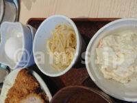 ポテトサラダ、生卵、もやしナムル とんかつは飲み物。 新宿店@東京新宿区 トッピング 3種類
