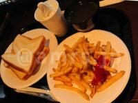 無料モーニング食べ放題@快活クラブ 食パン 神ポテト フライドポテト 食べ放題 トースト ソフトクリーム 中華スープ