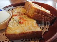 びっくりドンキー 八王子店@東京都八王子市 チーズトーストドリンクセット チーズトースト ゆで卵 カフェオンザロック
