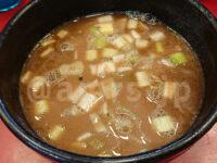 らーめん 谷瀬家@東京都港区 夏季限定 魚介つけ麺 並盛 スープ割り