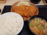 朝ロースカツ定食@かつや 朝ロースカツ定食